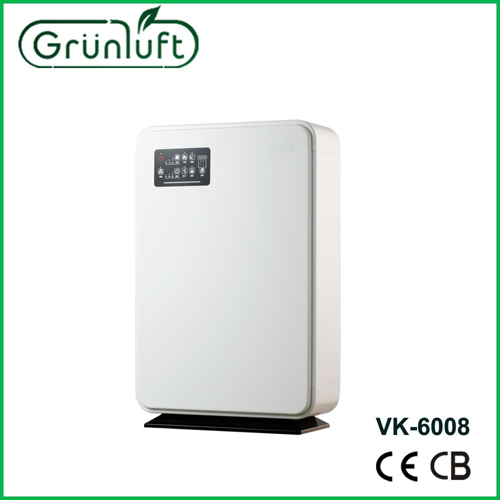 Indoor air purifier with Carbon-needled anion generator