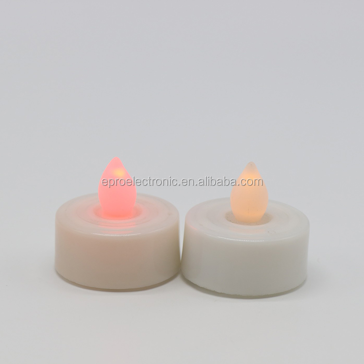 High Quality Decoration Tea Light LED Plastic Mini Candle