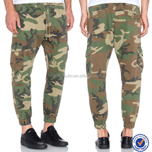 Camo pant and trousers elastic cuffed hem men camo pant