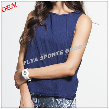 Activewear Gym sport wear soft fabric women's sleeveless gym muscle tank top