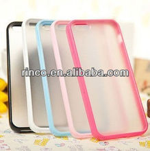 New 2 in 1 TPU+PC soft hard frosted matte case skin cover For Apple iPhone5 5G 5S