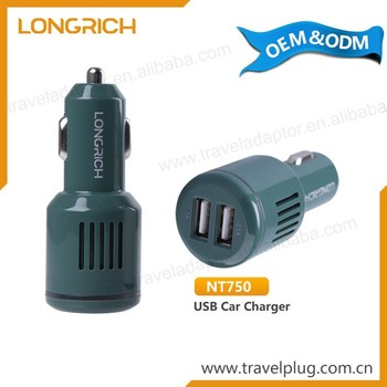 Wholesale Attractive Portable 12V Dual Usb Car Charger Promotional Gift Item