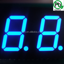 Low Power 0.5 inch 2 digits 7 segment led numeric display with multicolor(HS-5202E/FX)