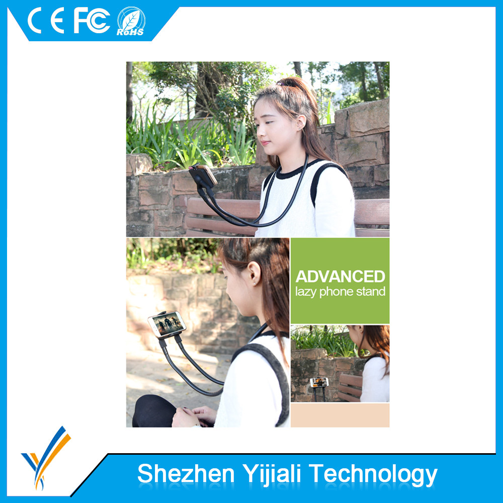 Hot selling 360 Rotating lazy neck phone holder for mobile phone