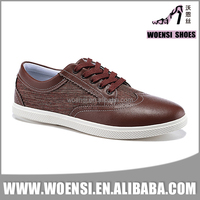wholesale factory customized quality fashion men brown brogue casual shoes