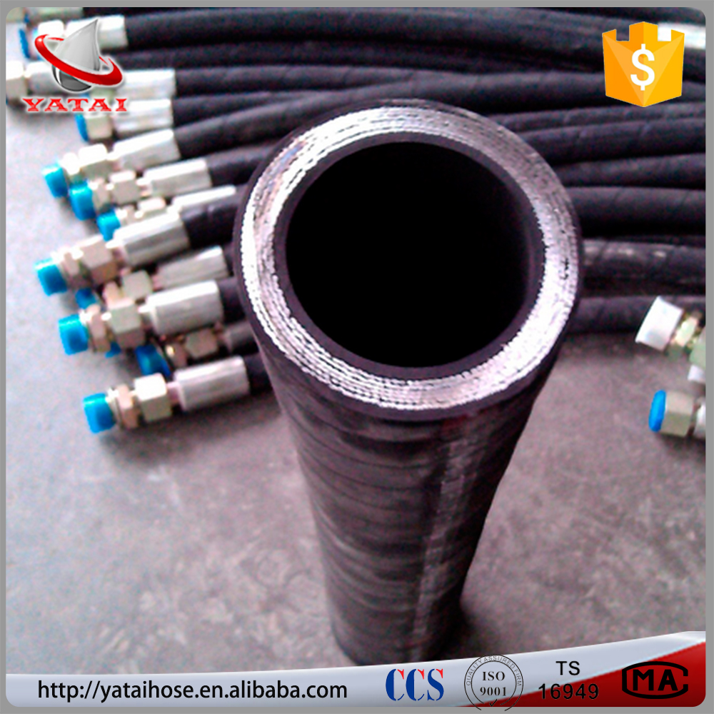 High Impulse Wire Spiral Flexible Hydraulic Hose 4SP 4SH <strong>R12</strong>