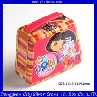 exquisite candy tin box with handle