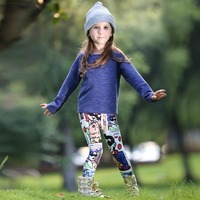 Hot Fashion Girls Autumn Clothing set Casual Cotton Printed Children Wear Fancy Kids Suits CS80813-72F