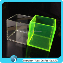 Color plexiglass display box acrylic riser cube, square exhibition acrylic risers manufaturer