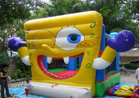 Giant cartoon character inflatable bouncer with Spongebob squarepants