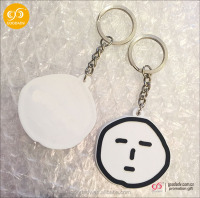 2016 Hot key ornaments pvc keychain badge