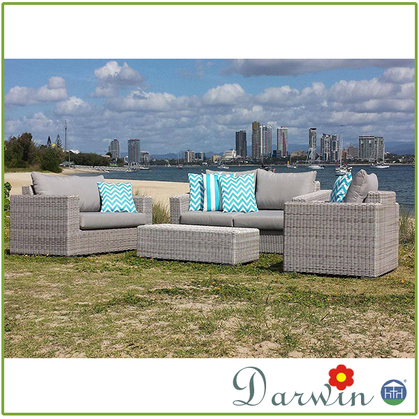 Outdoor plastic rattan effect garden weather furniture