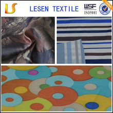 Shanghai Lesen textile hot sale 210t polyester oxford fabric with pu coating