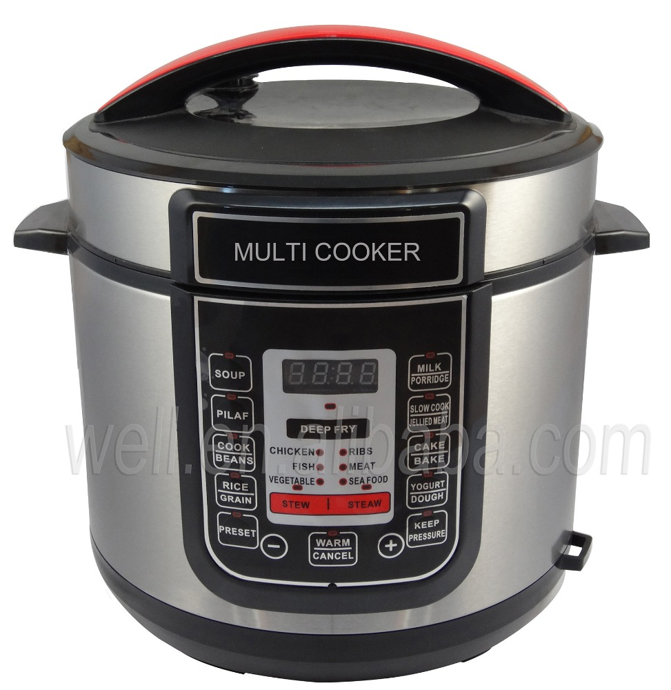 5L / 6L Stainless steel rice cooker LED display Multi function electric pressure cooker