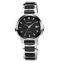 WEIQN stainless steel chain black color wrist watches for men and women