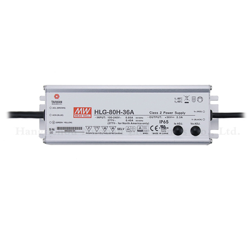 Mean well HLG-80H-36A waterproof power supply 80w constant voltage switching power supply LED <strong>driver</strong> 80w 36v