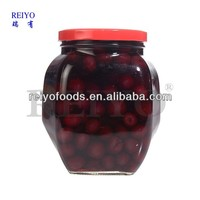 canned cherry in jar