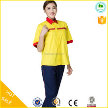 New design short sleeve workwear gas station uniforms cheap price