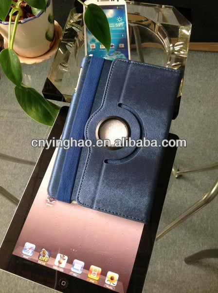 Top quality low price hand strap leather case for iPad mini