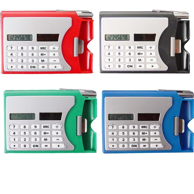 Name Card Holder With Pen Calculator