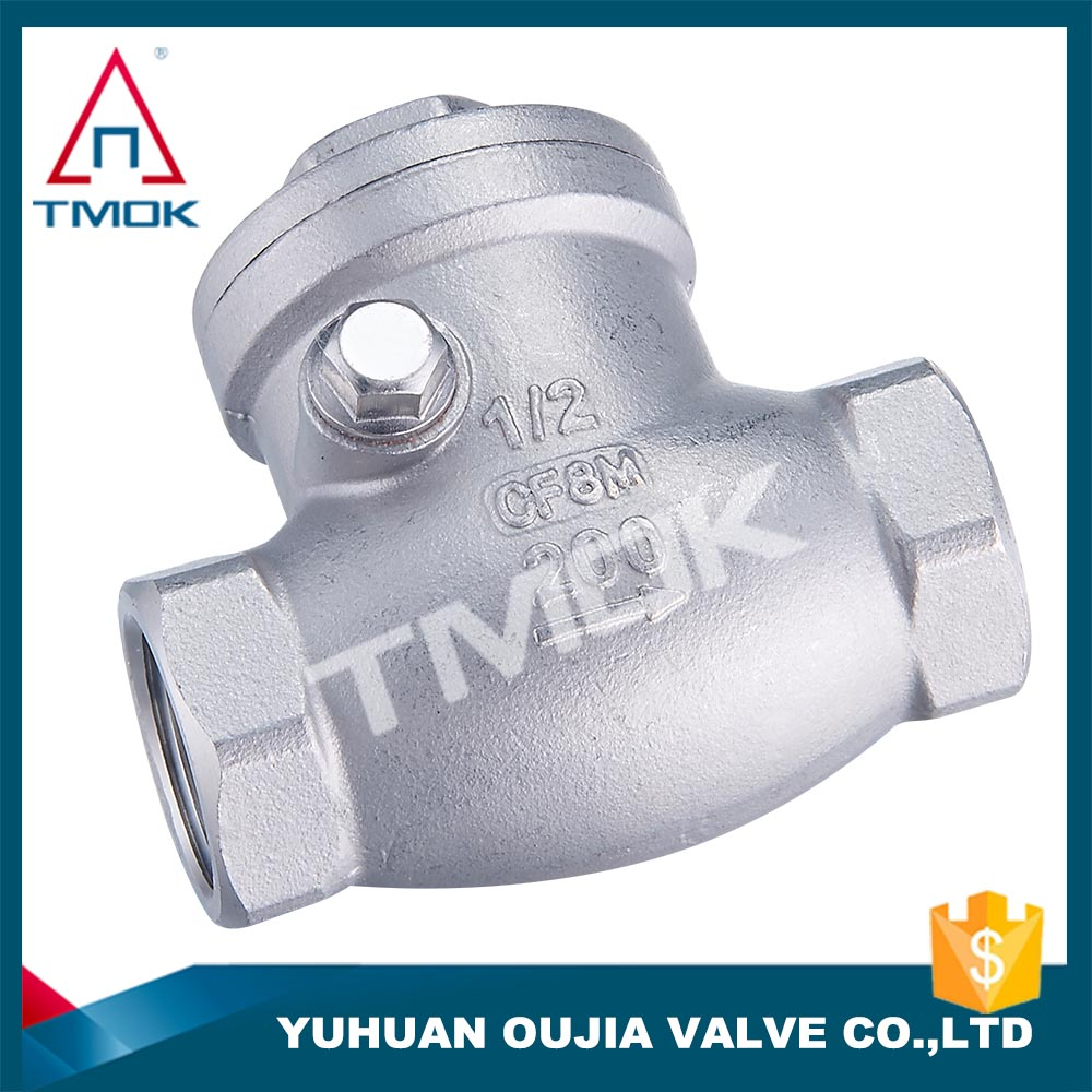 ss 316/304 check valve BSPT/NPT/BSPP/SW/BW swing cast stainless steel horizontal WCB non-return flow water flange with pipe