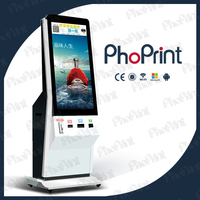 touch screen kiosk lcd display commercial hashtag printer wholesale photobooth