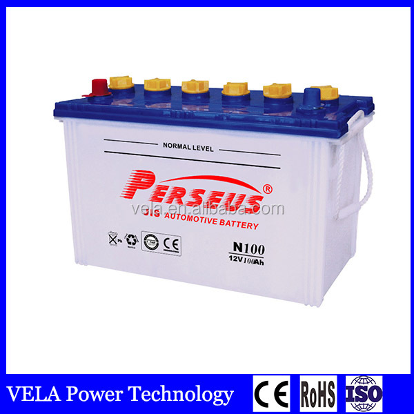 operated car battery <strong>N100</strong> 12v100ah