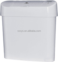 ABS Touchless Automatic 15L/2.4Gal Sensor Trash Can,White.CD-7002A