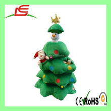 Green Christmas tree studded plush toy Environmental Protection
