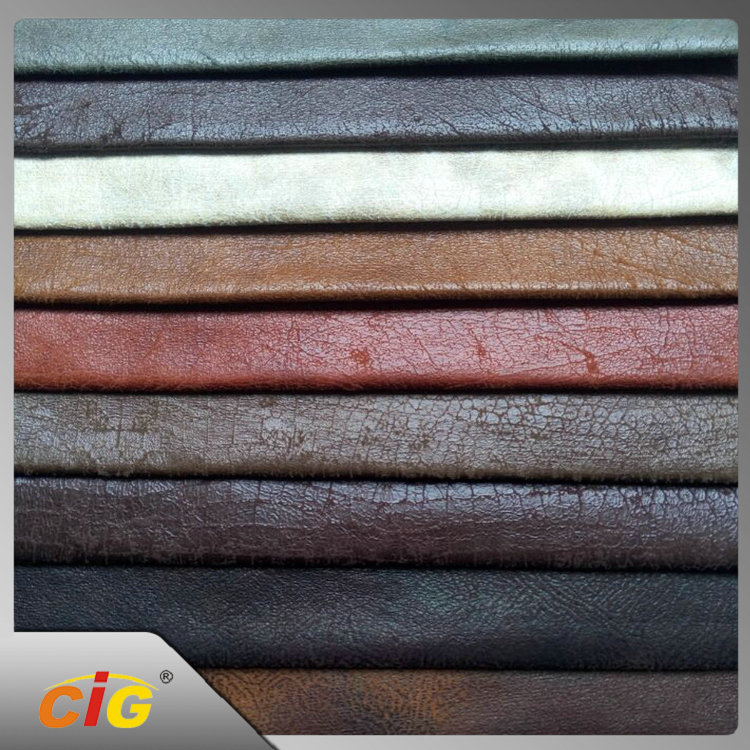 Fashion Good Quality Multicolor Pearly Wet PU Sofa Car Leather