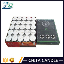 candle making factory high quality white tealight candle China for religious praying