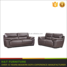 Danish Design Furniture Living Room Genuine Leather Couch Sofa