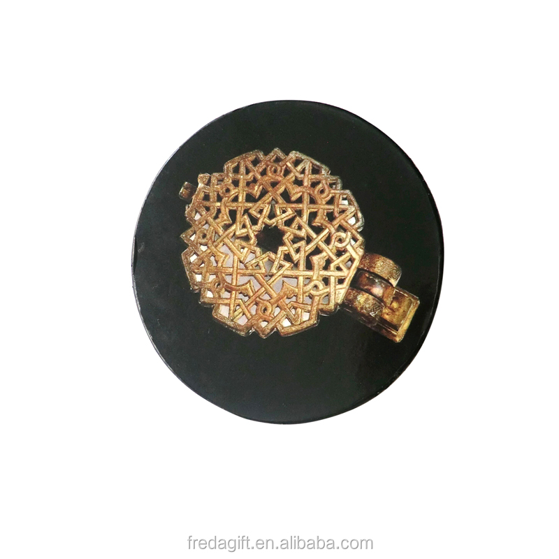 New promotional wholesale beer round cork coaster cheap black printed wooden coasters for drink