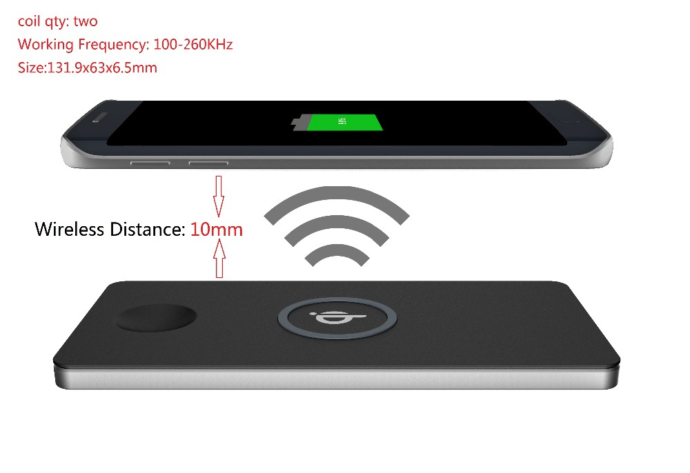Wholesale price universal qi wireless charger for samsung galaxy a8