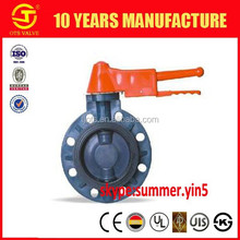 BV-SY664 Plastic PVC Manual Butterfly Valve handle Type