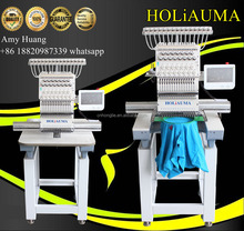 Top sale Holiauma cheap1 head tajima embroidery machine for shoes/garment/ hat/ leather /towel embroidery