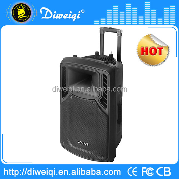 best 2015 trolley rechargeable battery built in 15inch tweeter speakers