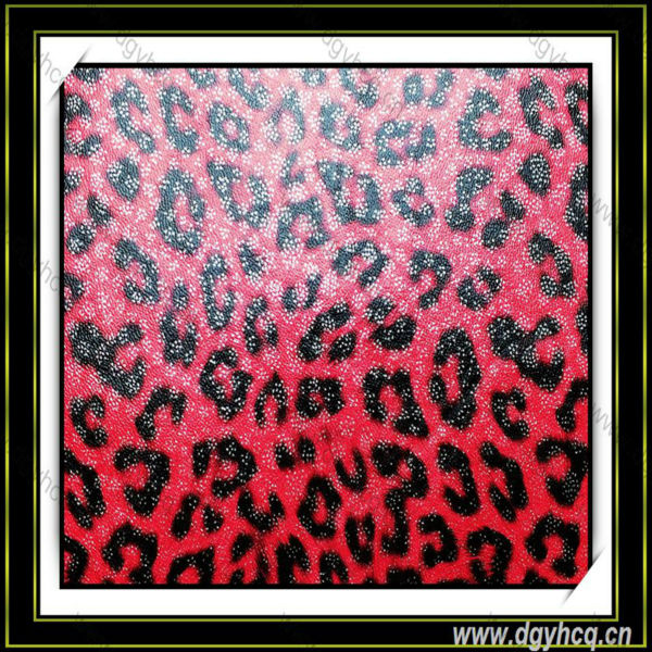 Yuhua printed leopard 1.0mm microfiber leather for handbag wallet