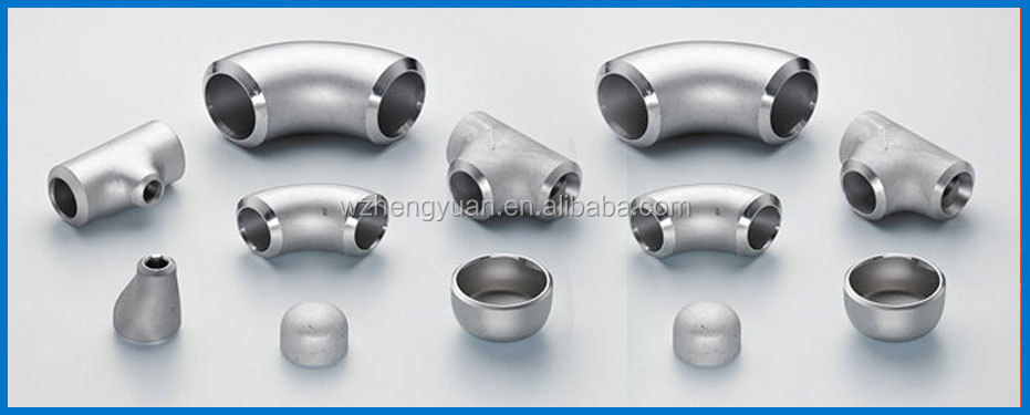 stainless steel pipe fitting / elbow / reducer / tee / bend with 45degree 90degree