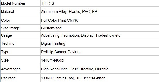 aluminum roll up standsroll up screen banner with factory price