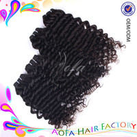 Wholesale unprocessed 100% virgin remy italian deep wave hair