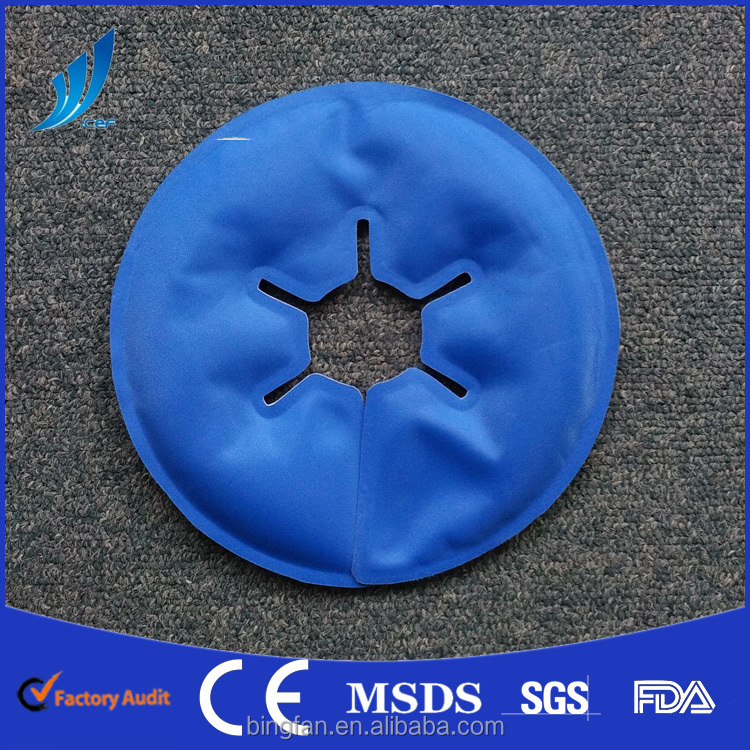 Mutilcolor hot crystal breast hot cold pack OEM