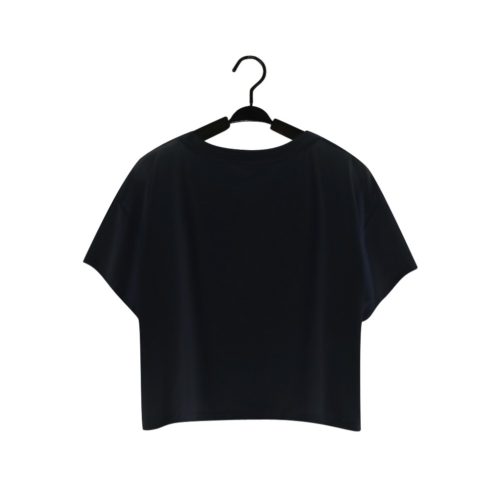 wholesale summer custom 100% polyester loose crop t-shirt