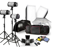 Photo Video Studio Kit Set Studio Light Stands Large Carrying Bag