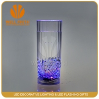 LED Glass with lights for Christmas/Bar/Party liquid/270ml led juice cup