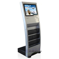 "19"" inch Floor stand LCD totem with brochure holder USB SD player"