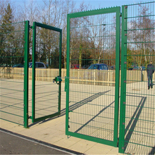 Metal modern gates design and fences/ Powder coated Curved Wire Mesh Fence Panel