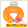 warm colorful happy novelty scented u-shape print office neck pillow