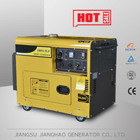 Single or three phase portable soundproof 6kva diesel generator