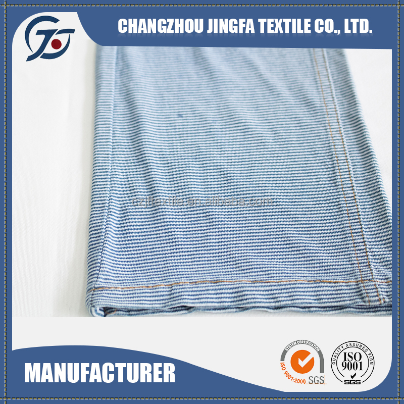Unique China 100% cotton blue and green striped fabric